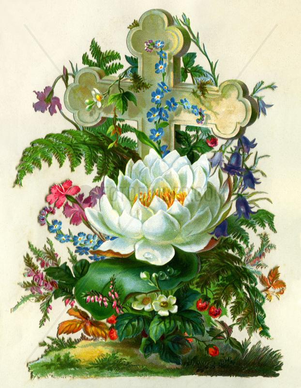 Grab mit Kreuz und Blumenschmuck,  1879