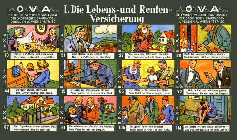 Lebensversicherung,  Rentenversicherung,  Werbespiel,  1929