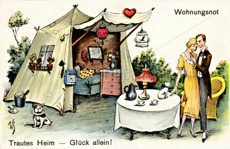 Wohnungsnot,  Humor,  1927