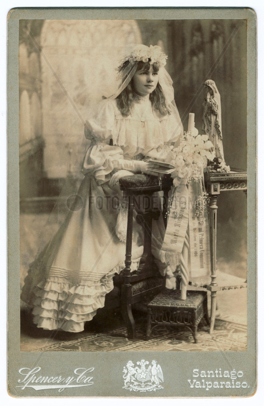 Erstkommunionkind,  Maedchen,  Chile,  1906