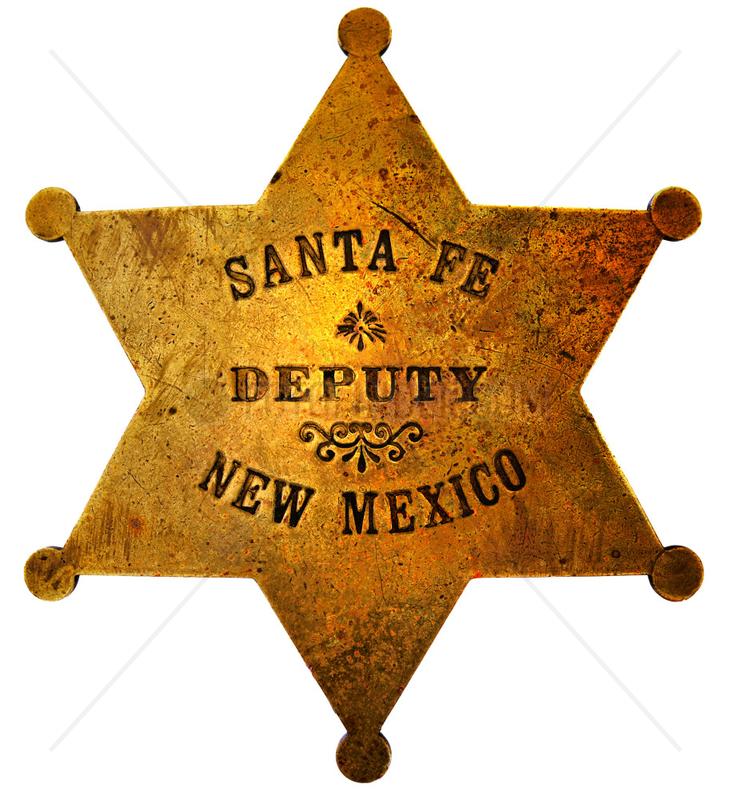historischer Sheriffstern aus Santa Fe,  1910