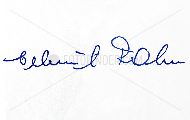 Unterschrift Helmut Rahn,  Fussballnationalspieler,  1958