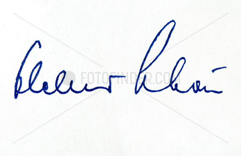 Unterschrift Helmut Schoen,  Bundestrainer,  1958