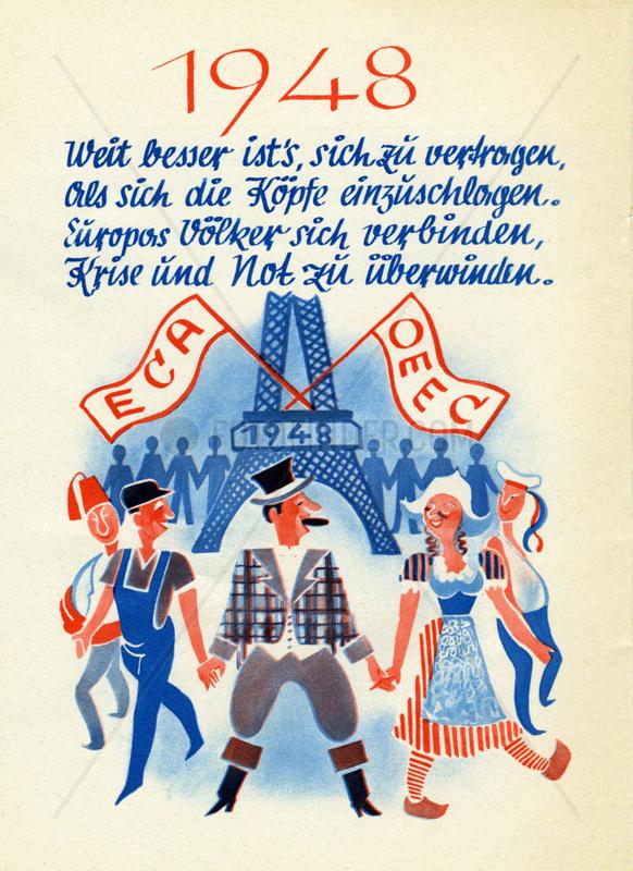 Beginn europaeische Einigung,  1948