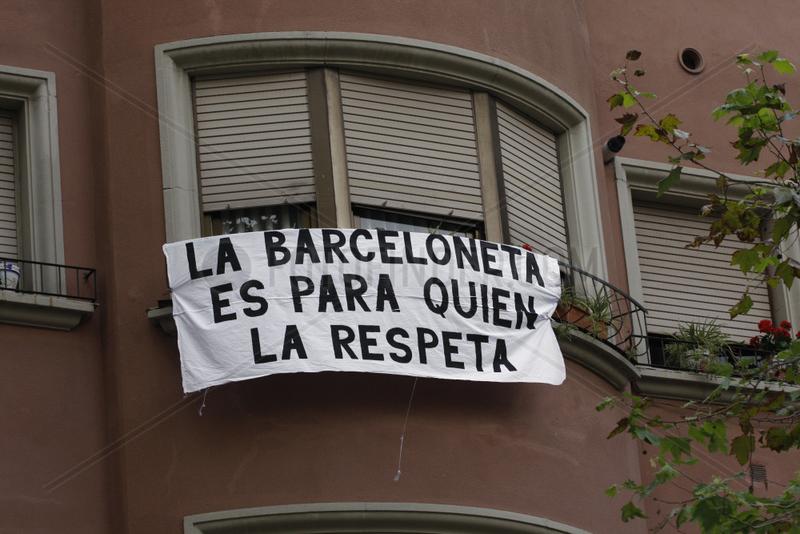La Barceloneta verlangt Respekt