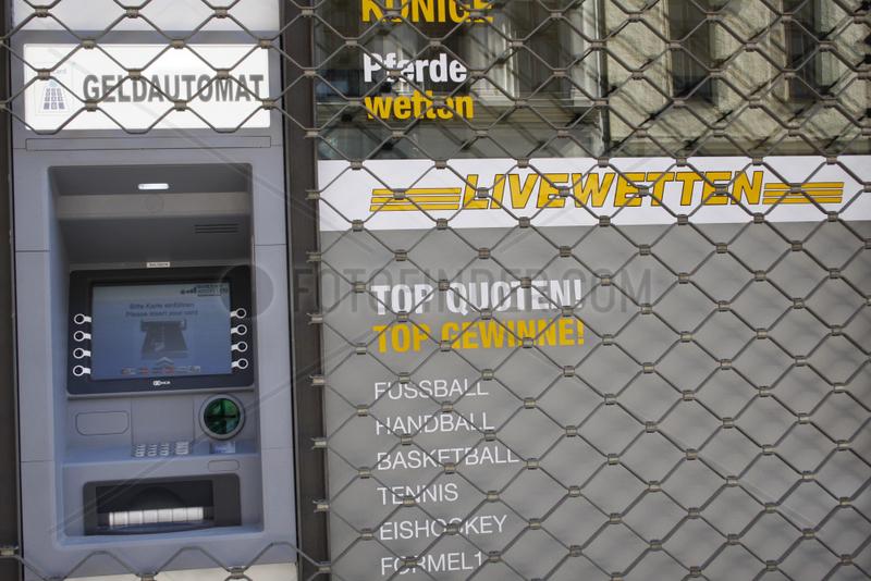 Wettbuero und Geldautomat