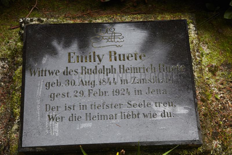 RUETE,  Emily - Gravestone of the princess