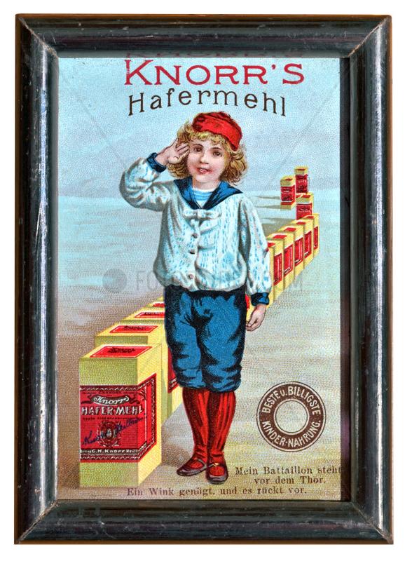 Knorrs Hafermehl,  Werbung fuer Kindernahrung,  1895