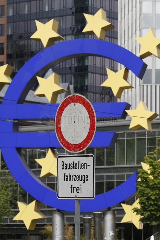 Die Europaeische Zentralbank im Finanzzentrum