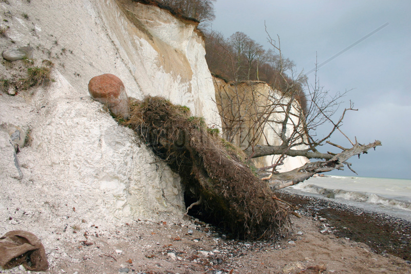 Kuesten Erosion auf Rugen