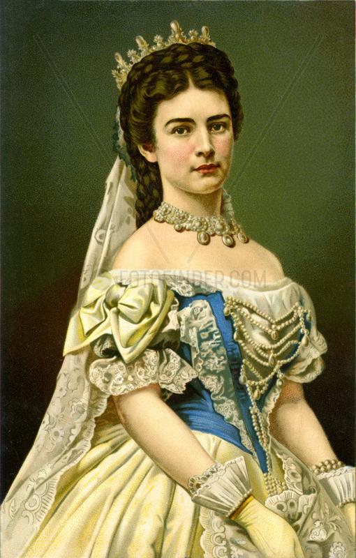 Kaiserin Elisabeth von Oesterreich,  Sisi,  1875