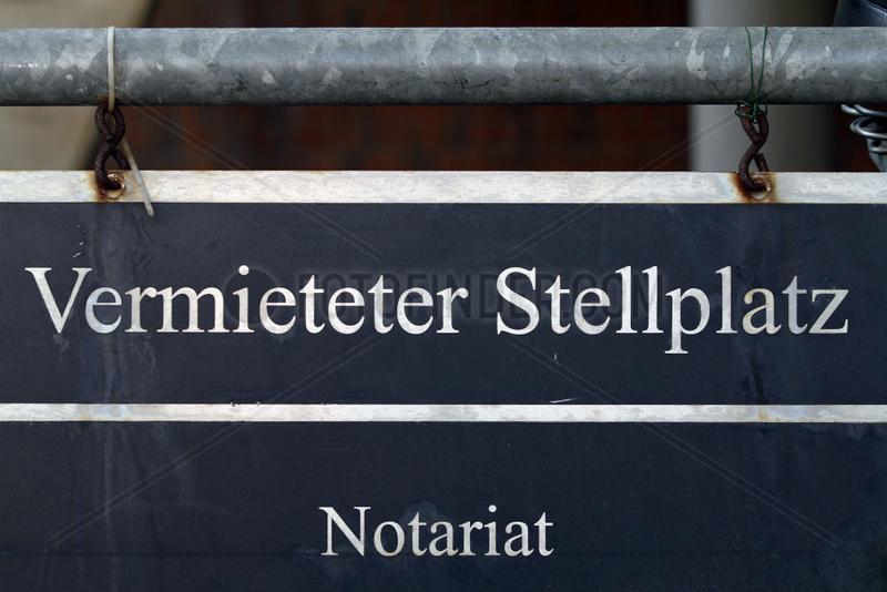 Notar Schild - Notary Public