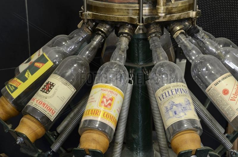 Old bottling machine,  water museum ,  Velleminfroy ,  Franche -Comté ,  France