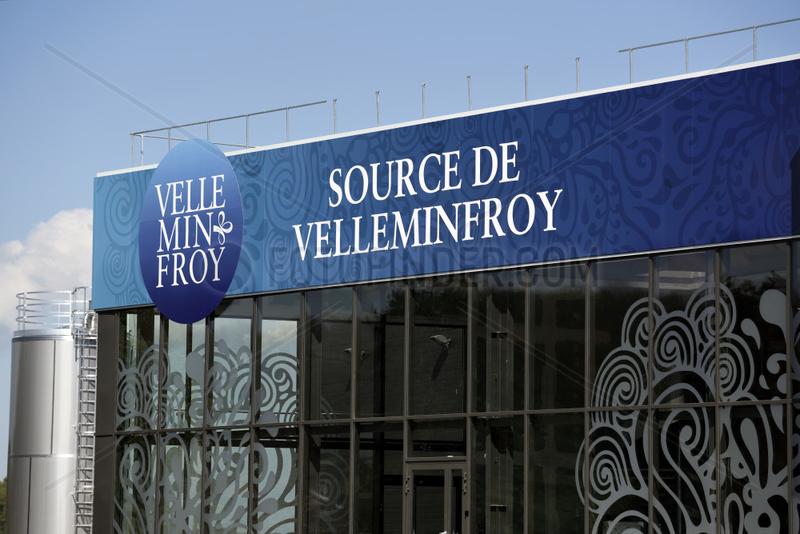 Water bottling plant in Velleminfroy,  Franche-Comte,  France