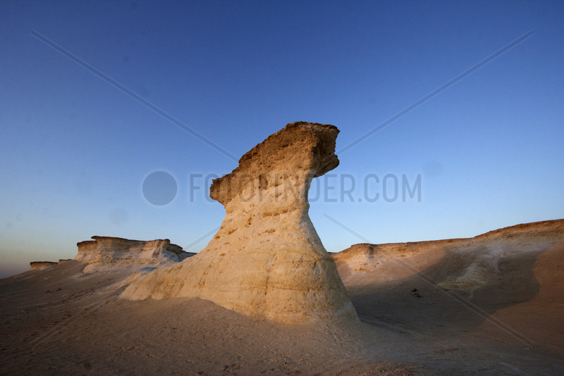 Erosion formation in the desert - Qatar Zekreet