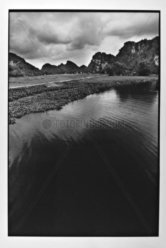 Landscape of Along bay Terrestre Hoa Lu Vietnam