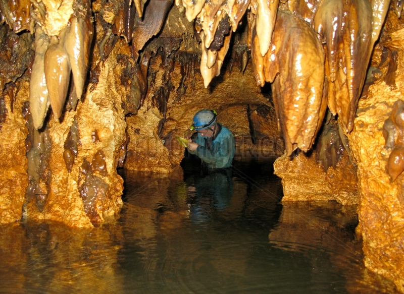 Exploring a cave - Karst Maros Sulawesi Indonesia