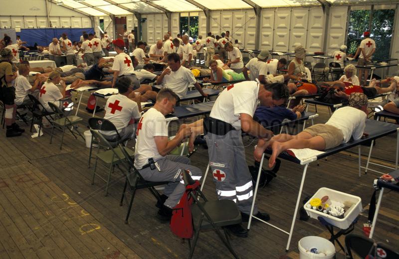 Nimwegen,  the four day marches,  first aid
