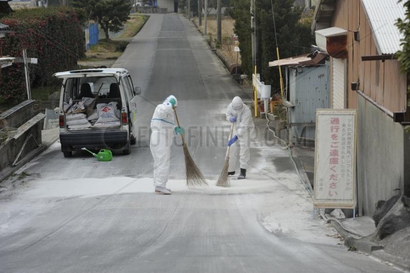 Disinfecting against bird flu in Japan