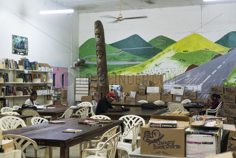 Library room in Port Vila,  Efate Island,  Vanuatu.