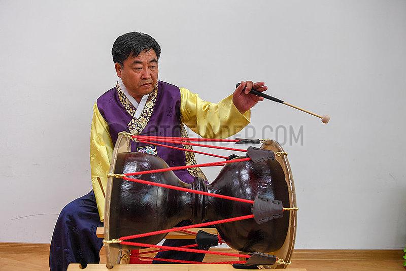 CHINA-JILIN-CHANGCHUN-Koreanische LONG Trommel (CN)