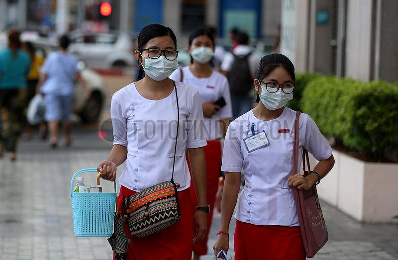 MYANMAR-YANGON-HIN1-INFLUENZA