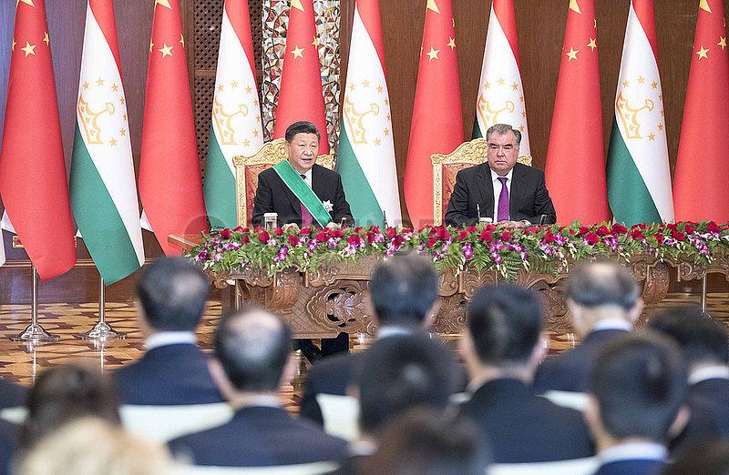 TAJIKISTAN-DUSHANBE-CHINA-PRESIDENTS-TALKS