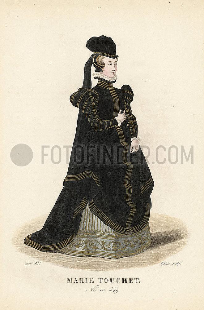Marie Touchet,  mistress of King Charles IX of France,  1549-1638.
