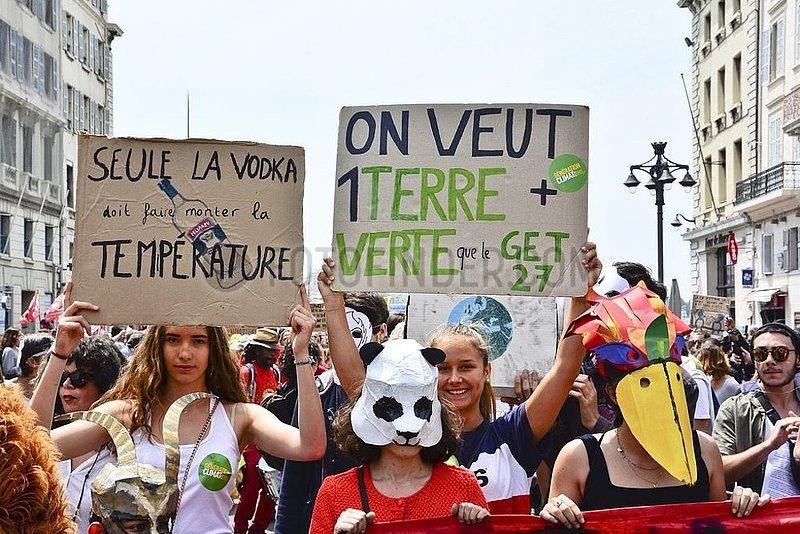Schuelerdemonstration in Frankreich, 20190525am016