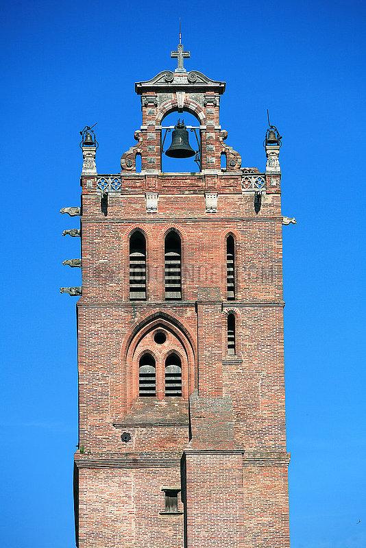 France,  Haute Garonne,  Toulouse,  la Cath?drale Saint Etienne,  le clocher du cardinal Jean dOrl?ans (XVI? si?cle)