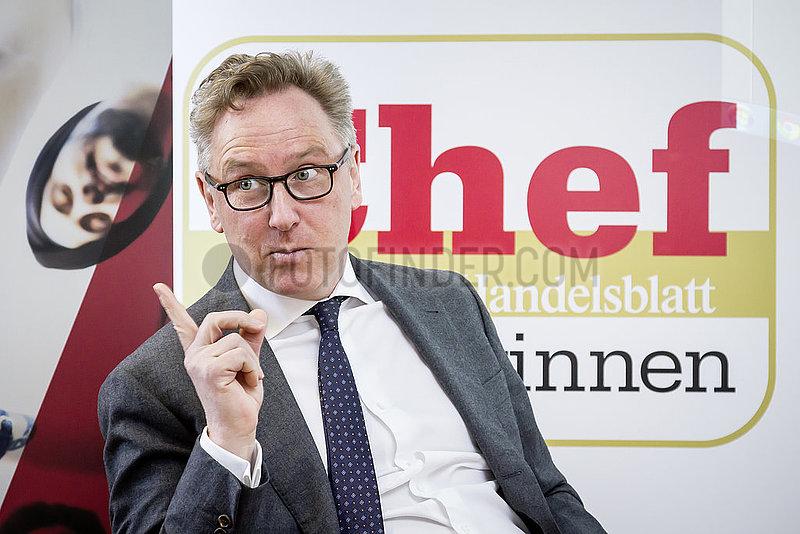 Handelsblatt-Veranstaltung Chef zu gewinnen mit Heinrich Otto Deichmann,  Vorstandsvorsitzender des Verwaltungsrats der Deichmann SE