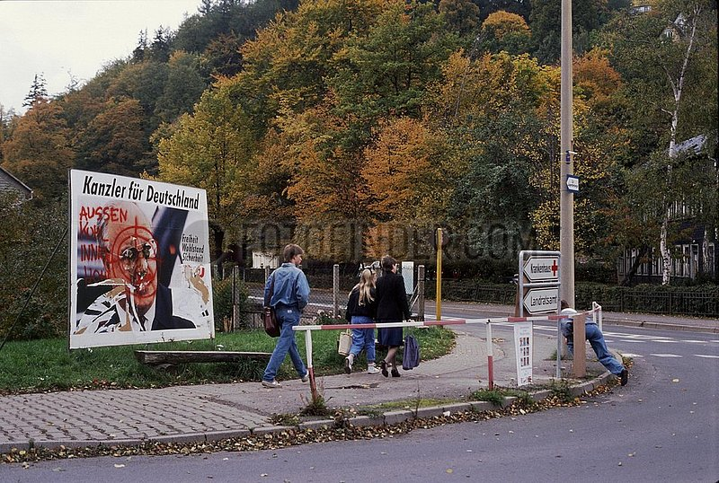 Oktober 1990,  Ilmenau,  Thueringer Landtagswahl