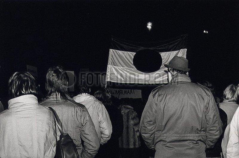 7. Dezember 1989,  Erfurt,  Demonstration zur Stasi- Besetzung