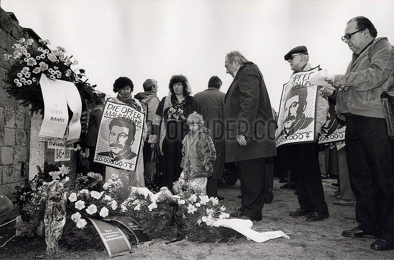 23. Maerz 1991,  KZ Sachsenhausen,  Opfer des Stalinismus