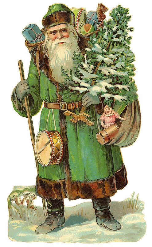 Weihnachtsmann,  Poesiebild,  1910