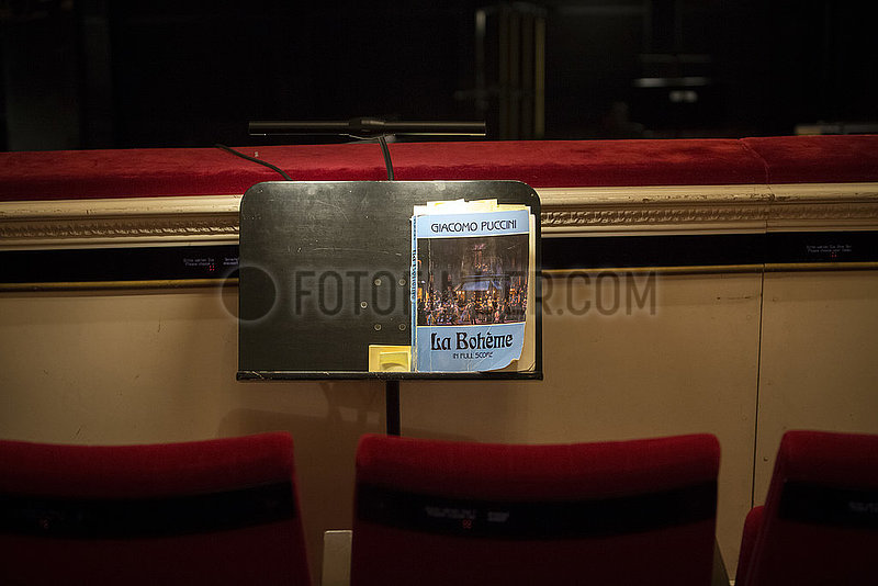 Komische Oper LA BOHEME ,  Proben-Foto