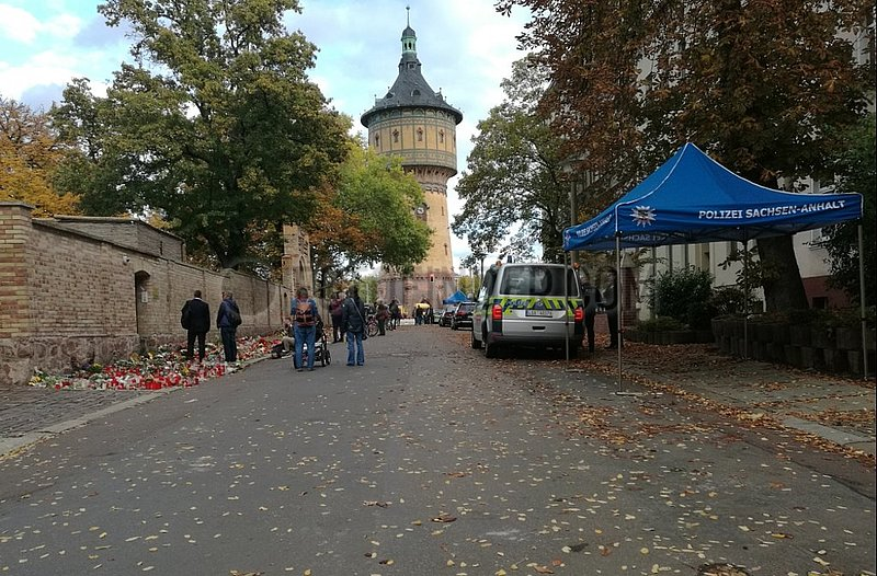 Trauer nach Anschlag in Halle