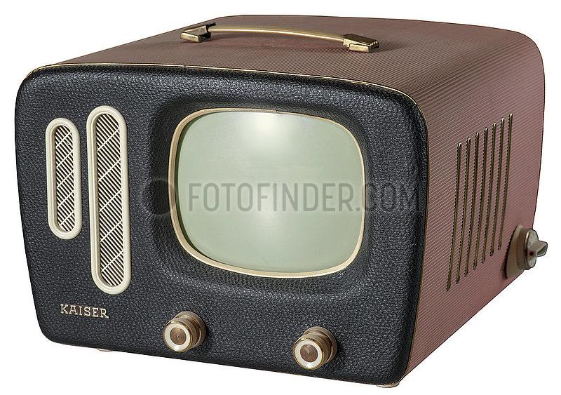 erster tragbarer Fernseher Kaiser Prinz,  1959