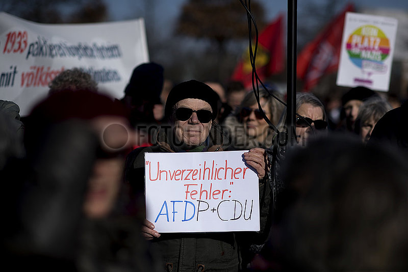 Demonstration against Nazis,  Thuringia election