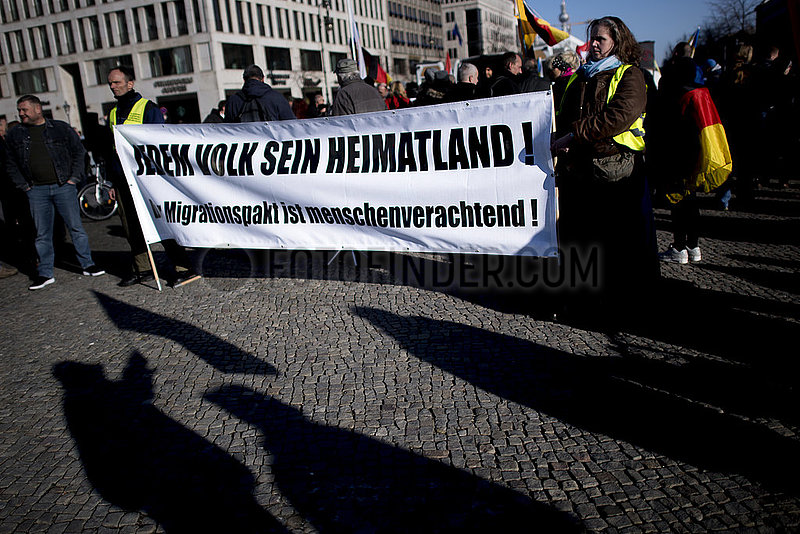 Right-Wing Demo Patriotic Opposition Europe against Migration Pact