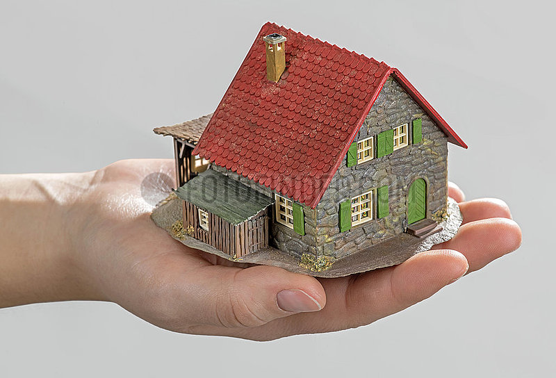 altes Hausmodell,  Hand