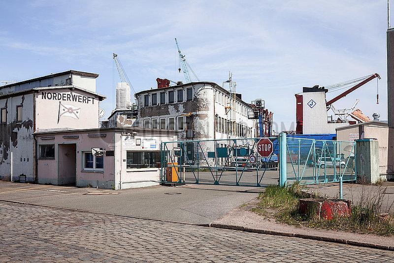 Norderwerft im Hamburger Hafen