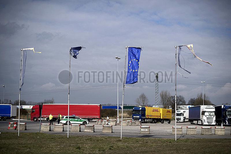 Cargo Truck Tailbacks,  Germany-Poland Coronavirus Pandemic