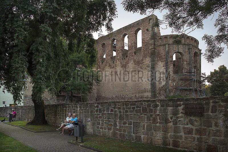 Stiftsruine Bad Hersfeld,  Suedostansicht