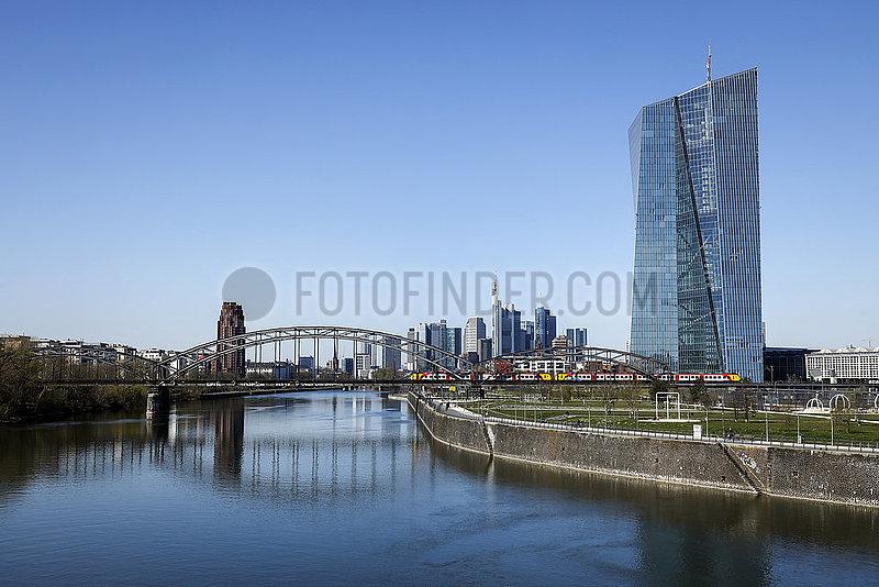 EZB Europaeische Zentralbank,  Frankfurt am Main,  Hessen,  Deutschland