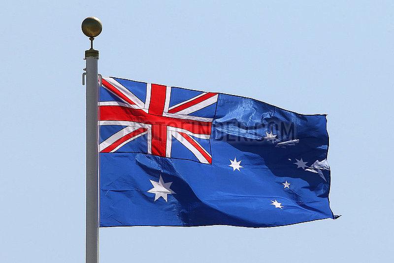 Hongkong,  China,  Nationalfahne von Australien