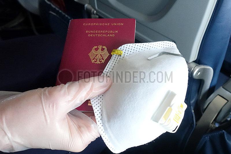 Minneapolis,  USA,  Symbolfoto: Flugreise in Zeiten der Corona-Pandemie