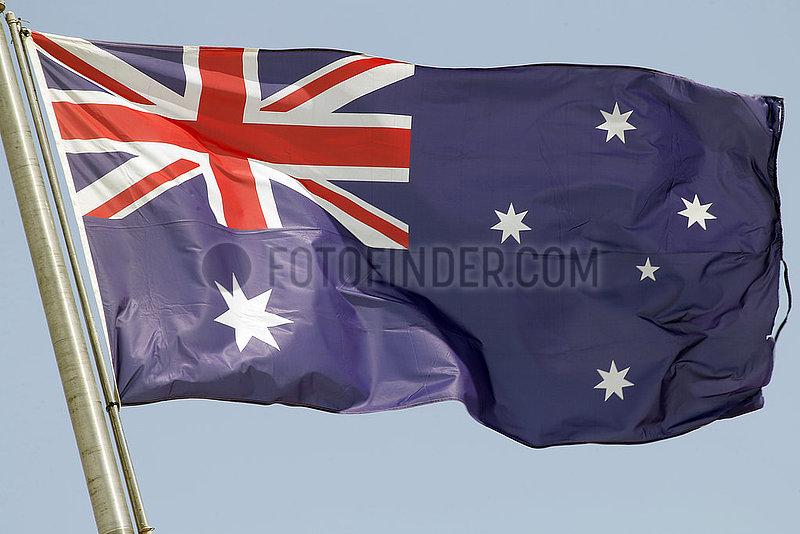 Berlin,  Deutschland,  Nationalfahne von Australien