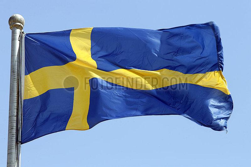 Berlin,  Deutschland,  Nationalfahne von Schweden