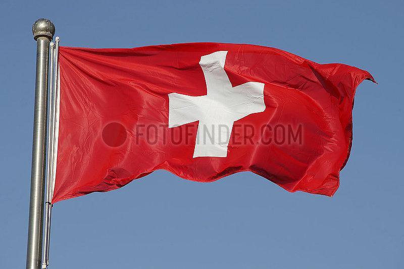 Berlin,  Deutschland,  Nationalfahne der Schweiz